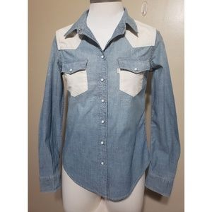 Levi's Blue/Wht Button Up Shirt